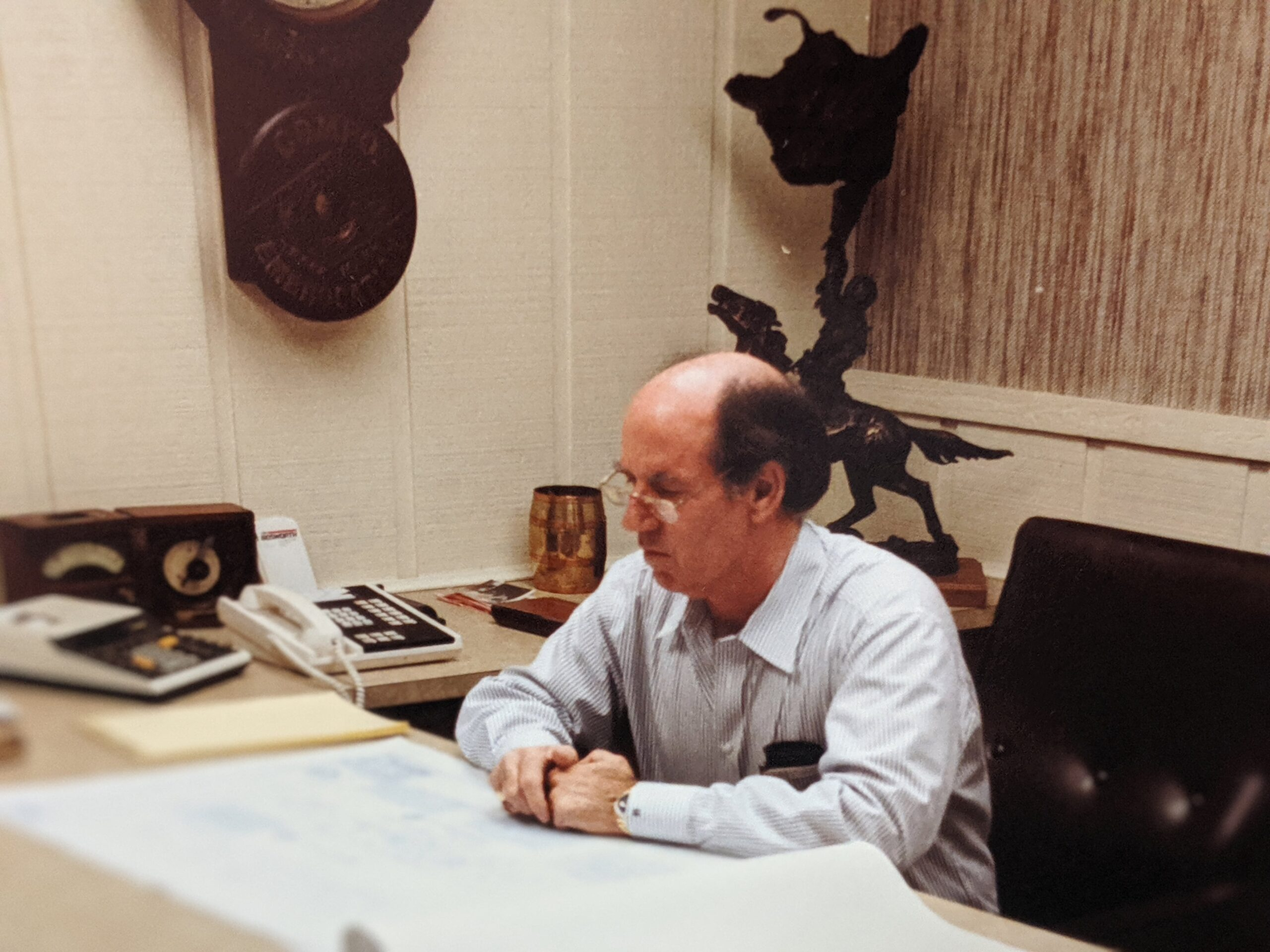 Corky Bosworth at Desk