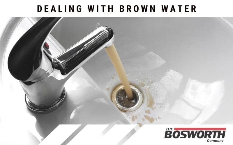 brown water coming out of a bathroom faucet