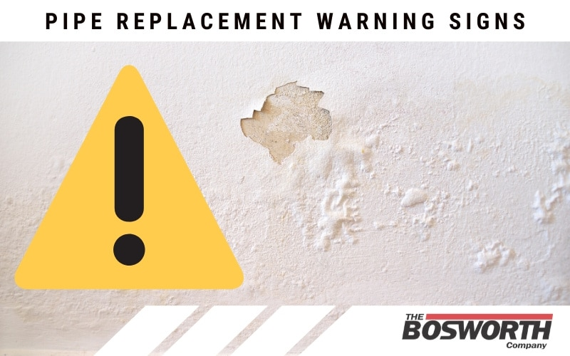 cracks in paint or bubbled paint is a pipe replacement warning sign