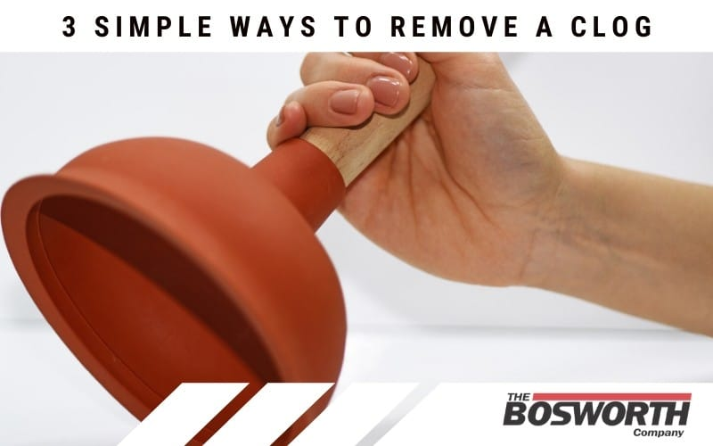 using a plunger to remove a clog