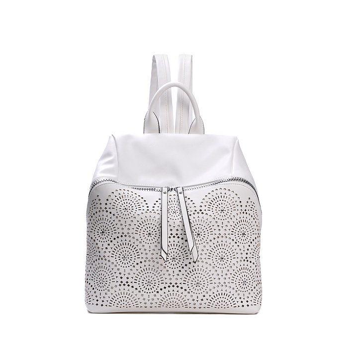 Lazer-Cut backpack - white