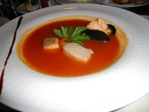 The American Colony Hotel Fish Soup at Val's