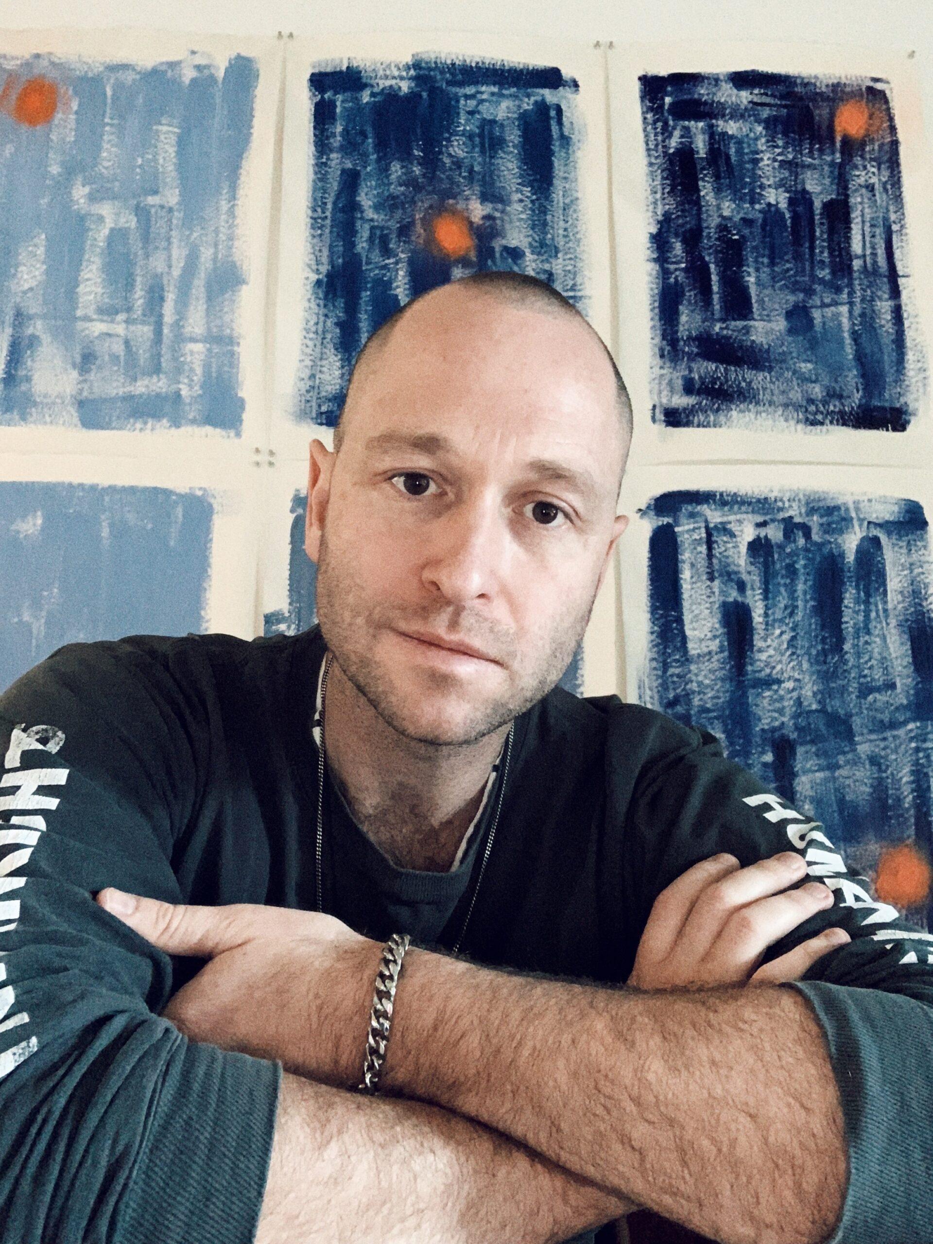 Portrait of Ben Mazey at home