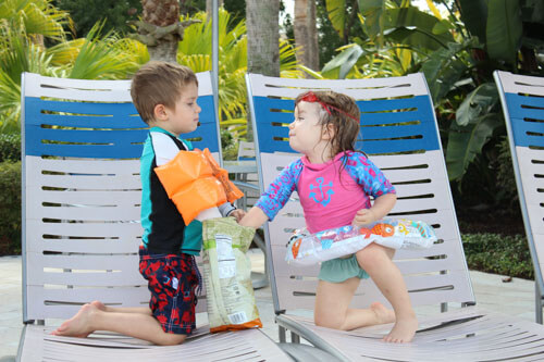 Snacks at the pool | Groceries are good for cheap travel