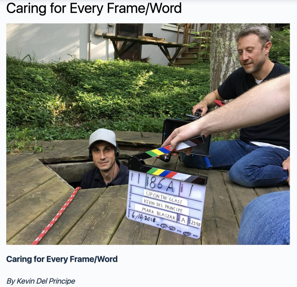 Article in Student Filmmaker Magazine