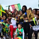 Jamaican people celebrating