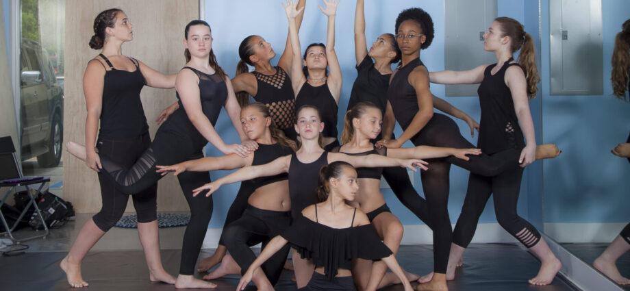 Group of girls in black