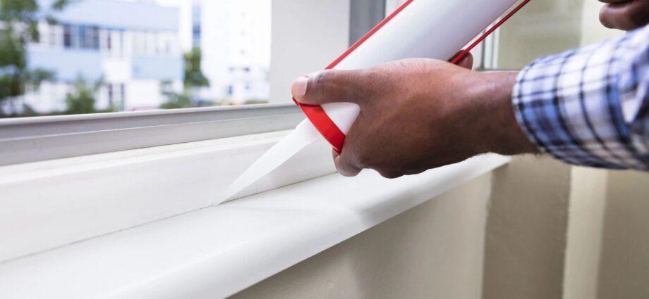 caulking finish on freshly installed window