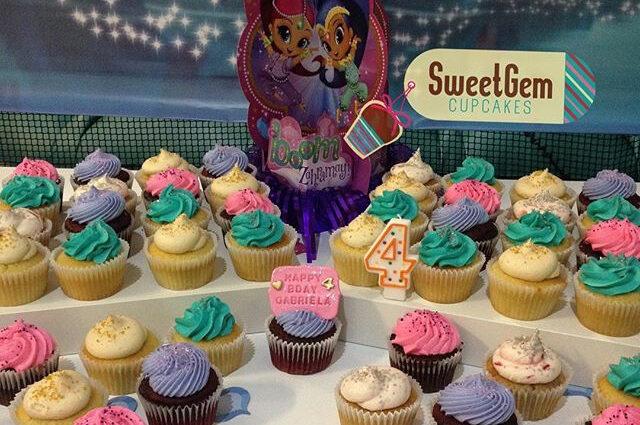 Disney themed cupcake display