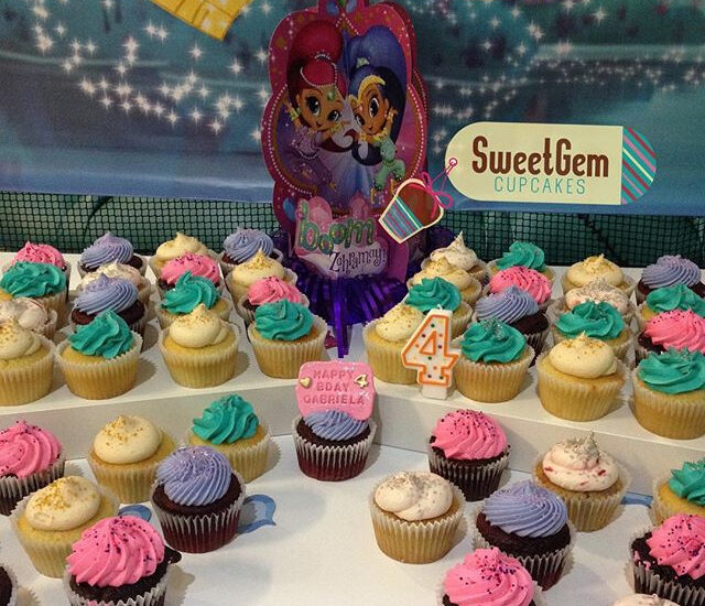 Disney themed cupcake display