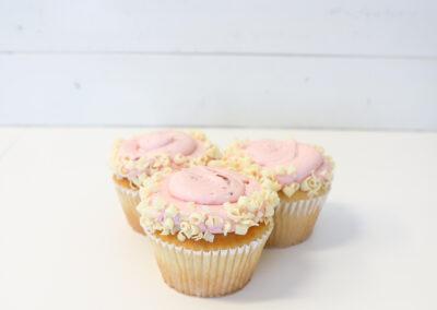 Vanilla with Strawberry Buttercream Cupcake