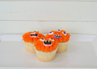 Halloween Vanilla Cupcake
