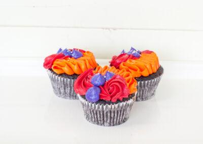 Fall Black & White Cupcake