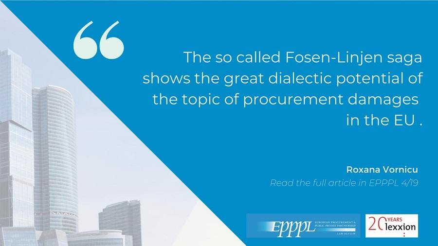 How do the UK and France approach the recovery of damages for illegal procurement decisions?Roxana Vornicu revisits the issue in light of the Fosen-Linjen Saga