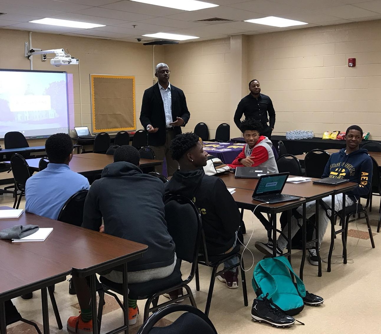 Dr. Smith speaking at Lower Richland High School