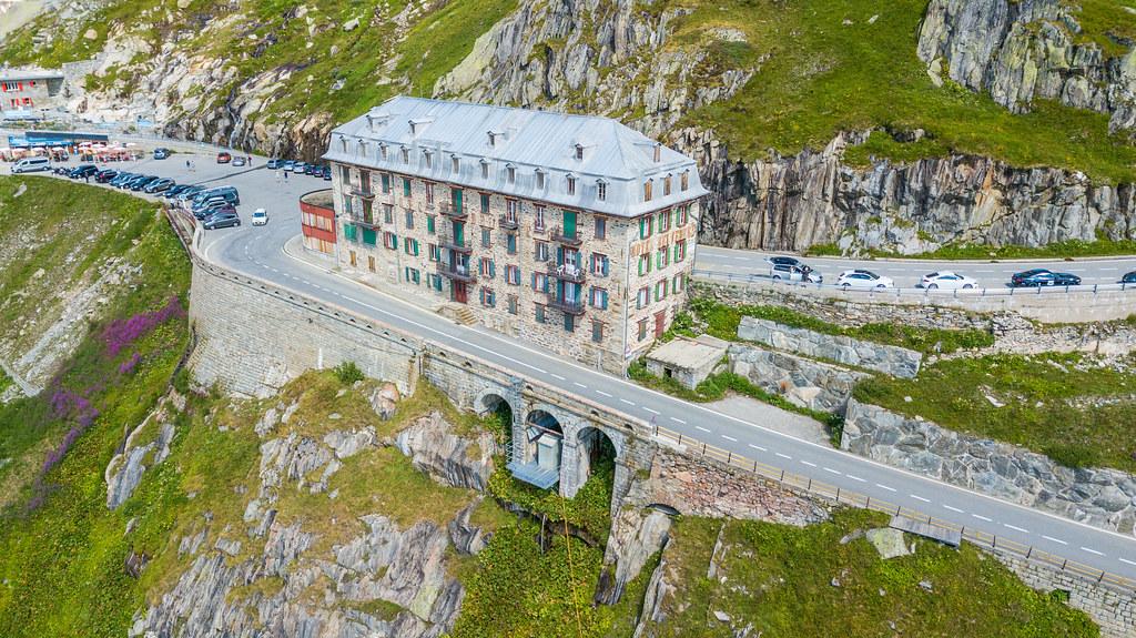 Furka Pass - Switzerland, Glacier Aerial Photography