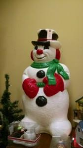 Blow Mold Snowman 3