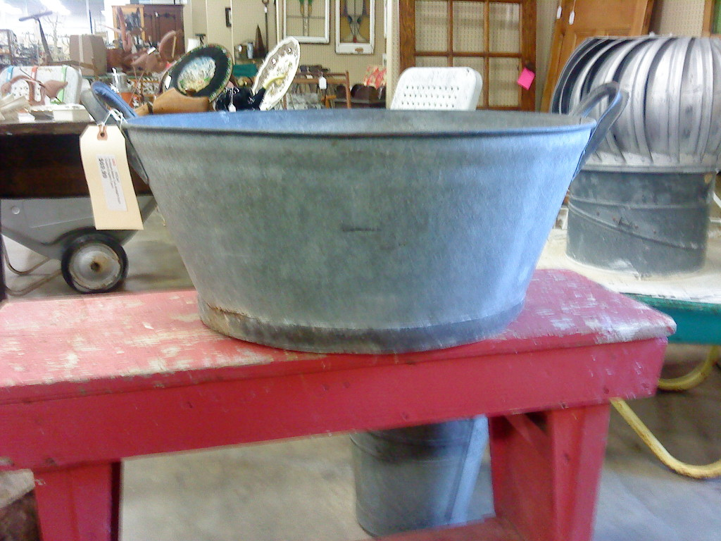 British galvanized tub