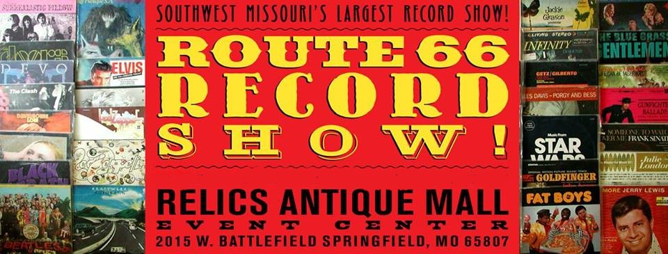 Route 66 Record Show, (FALL) Sun., Sept. 29