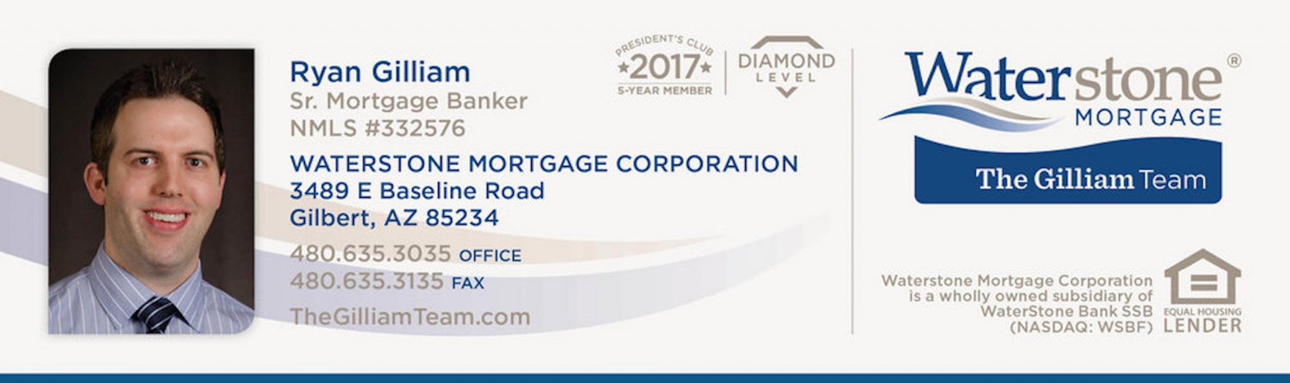 Ryan Gilliam Waterstone Mortgage