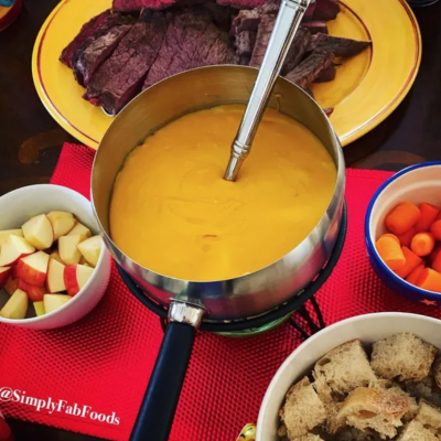 V's Beer Cheese Fondue