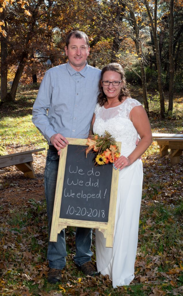 Congratulations Nick and Krissy! Photo courtesy of Sunny Dispositions Photography.