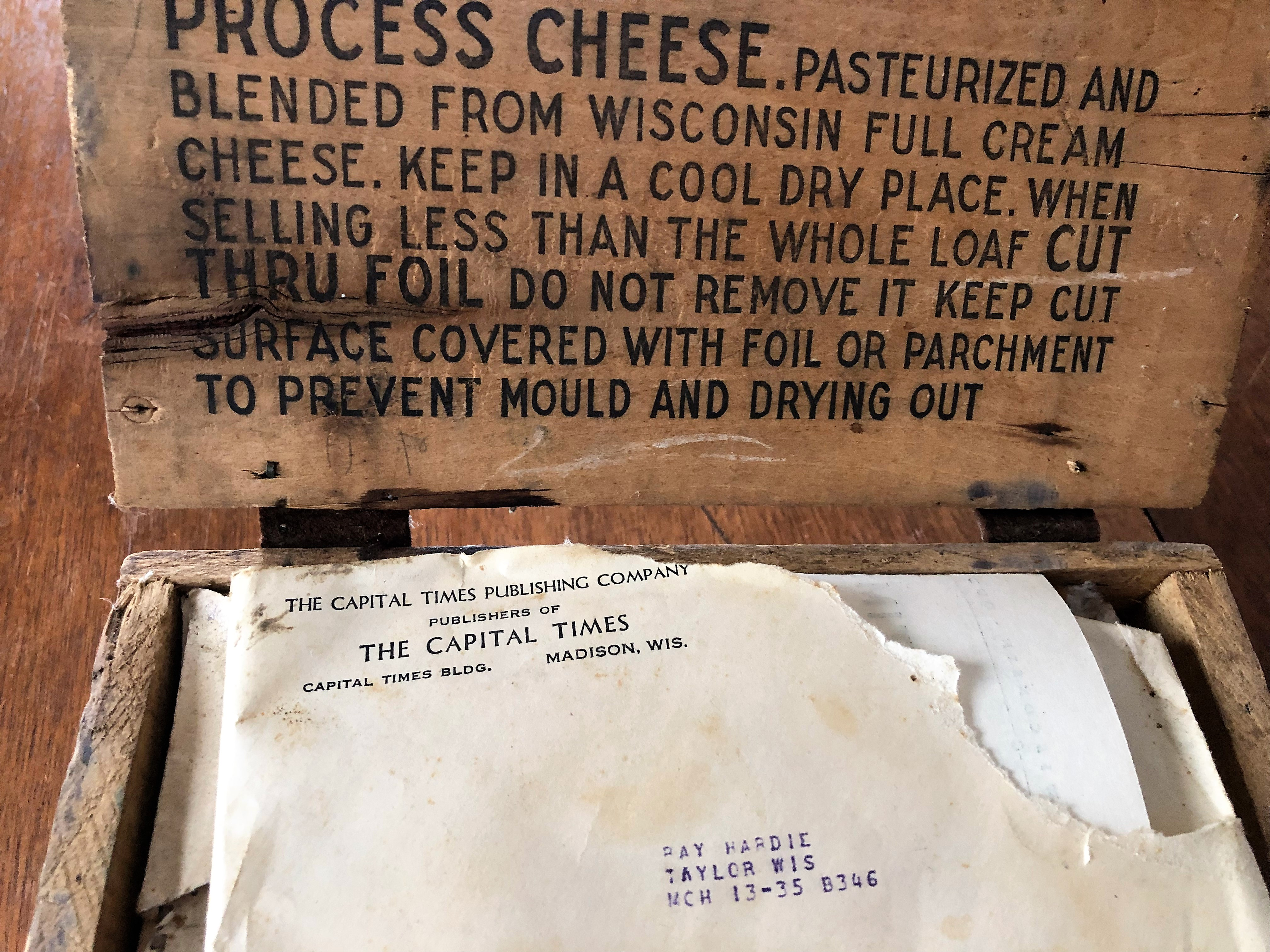 This old cheese box is stuffed with memories