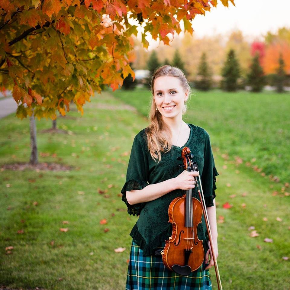 Fiddling champion Joanna Johnson