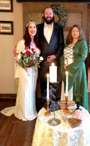 Derrick and Mariah chose a Celtic handfasting ceremony.