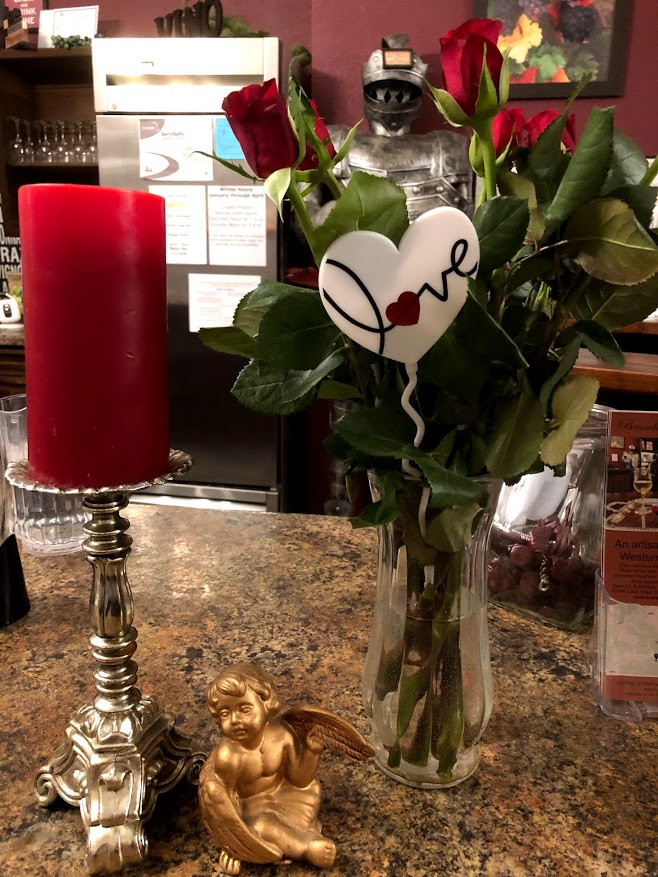 Valentine's Day wine and pizza event