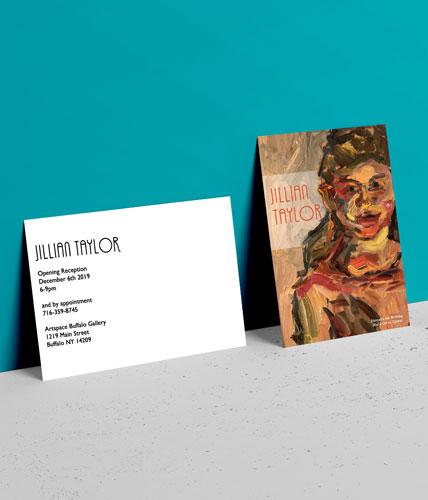 Jillian Taylor Gallery Showing Postcard