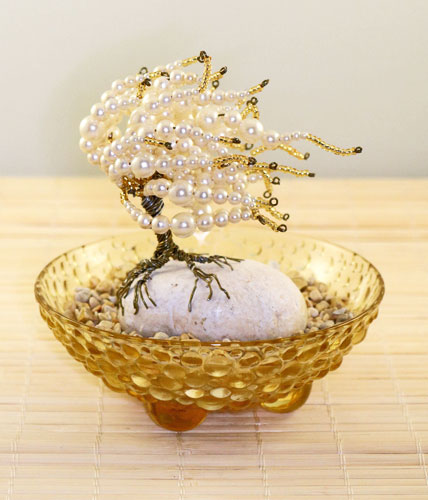 Pearl Silver and Gold Zen Garden