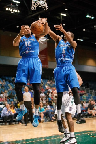 Texas Legends Guard BRANDON YOUNG (12) and Guard GEORGE BEAMON (6)