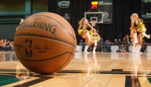 The Lady Bighorns perform during the NBA D-League Basketball