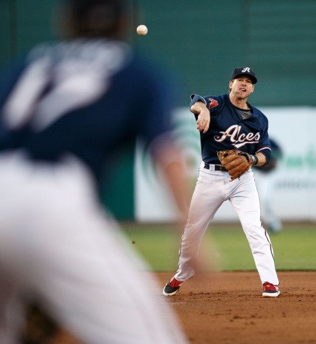 Reno Aces 2nd Baseman MIKE FREEMAN (1)
