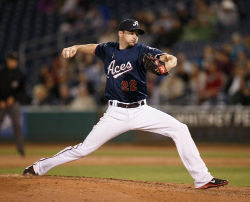 Reno Aces Pitcher ALLEN WEBSTER (22)