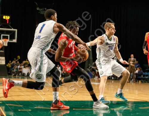 Reno Bighorn Guard RICKY LEDO (1) and Reno Bighorn Guard CHAD TOPPERT (30)