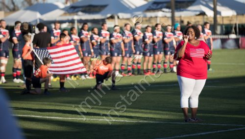 USA Rugby during the National Anthem