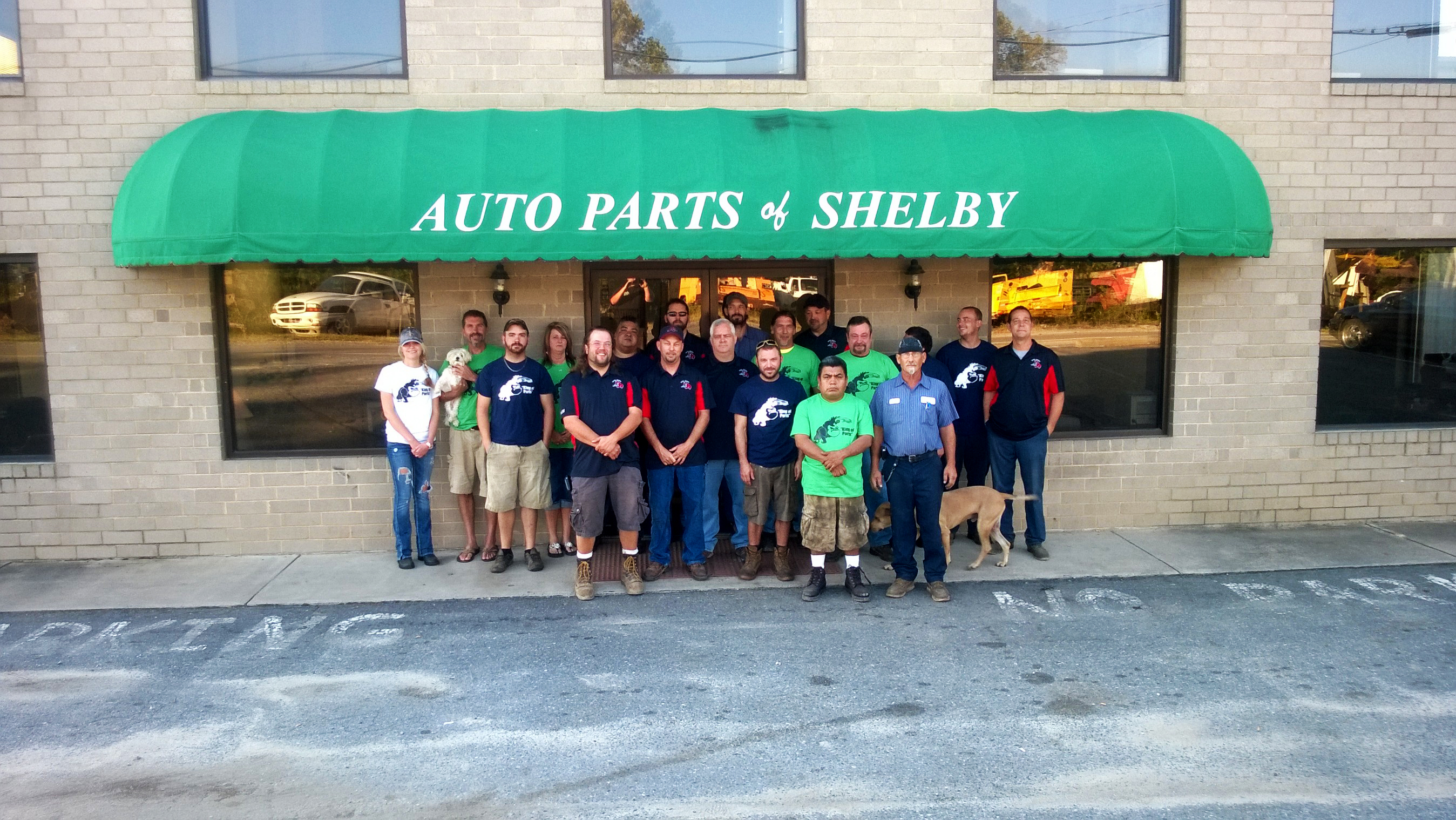 Auto Parts of Shelby crew including Molly and Butter