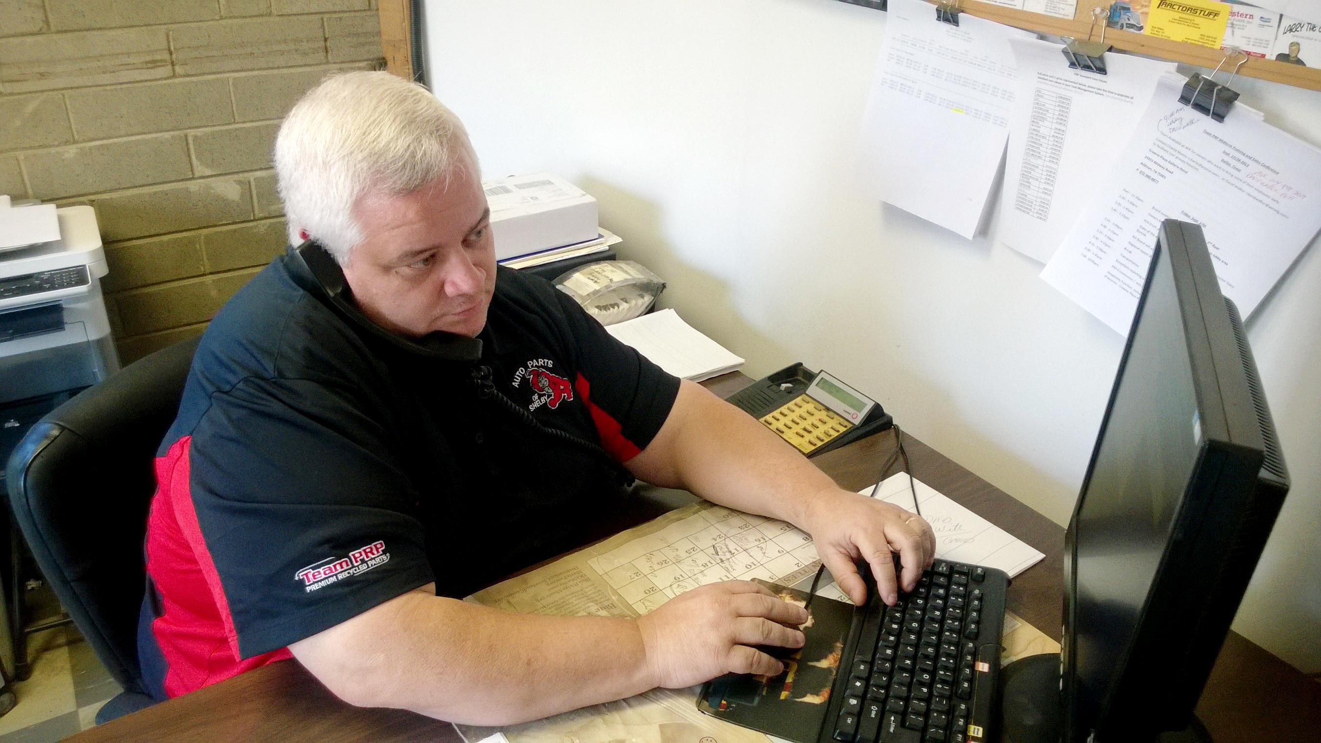 Chris Clark Taking an Order