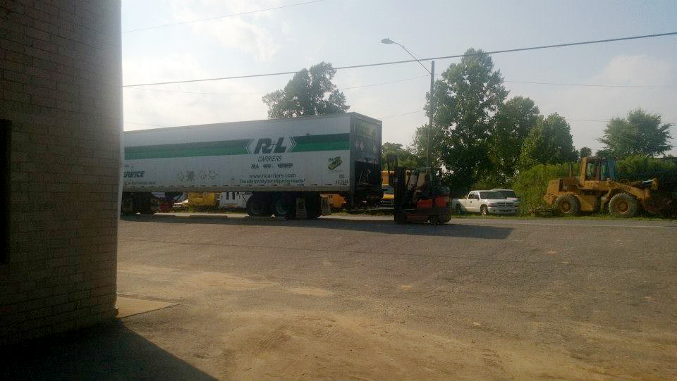 Loading freight
