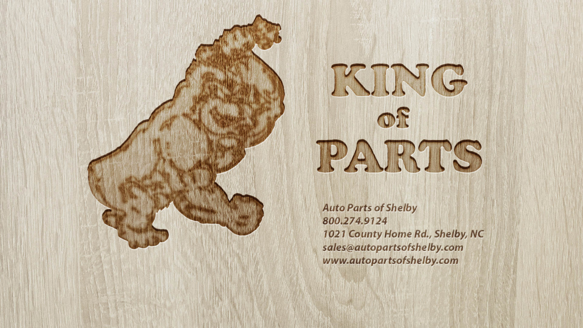 Auto Parts of Shelby Engraved Wood Desktop Wallpaper 1920 x 1080