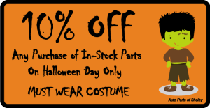 GET 10% OFF YOUR TOTAL PURCHASE THRU HALLOWEEN 2014
