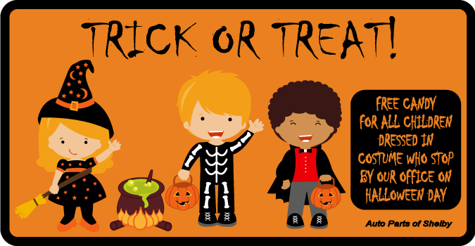 Free Candy to Children in Costume on Halloween Day