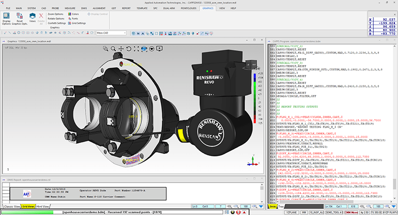 CappsDMIS Version 8 with Renishaw Revo