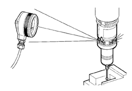 Example of a measuring probe and receiver