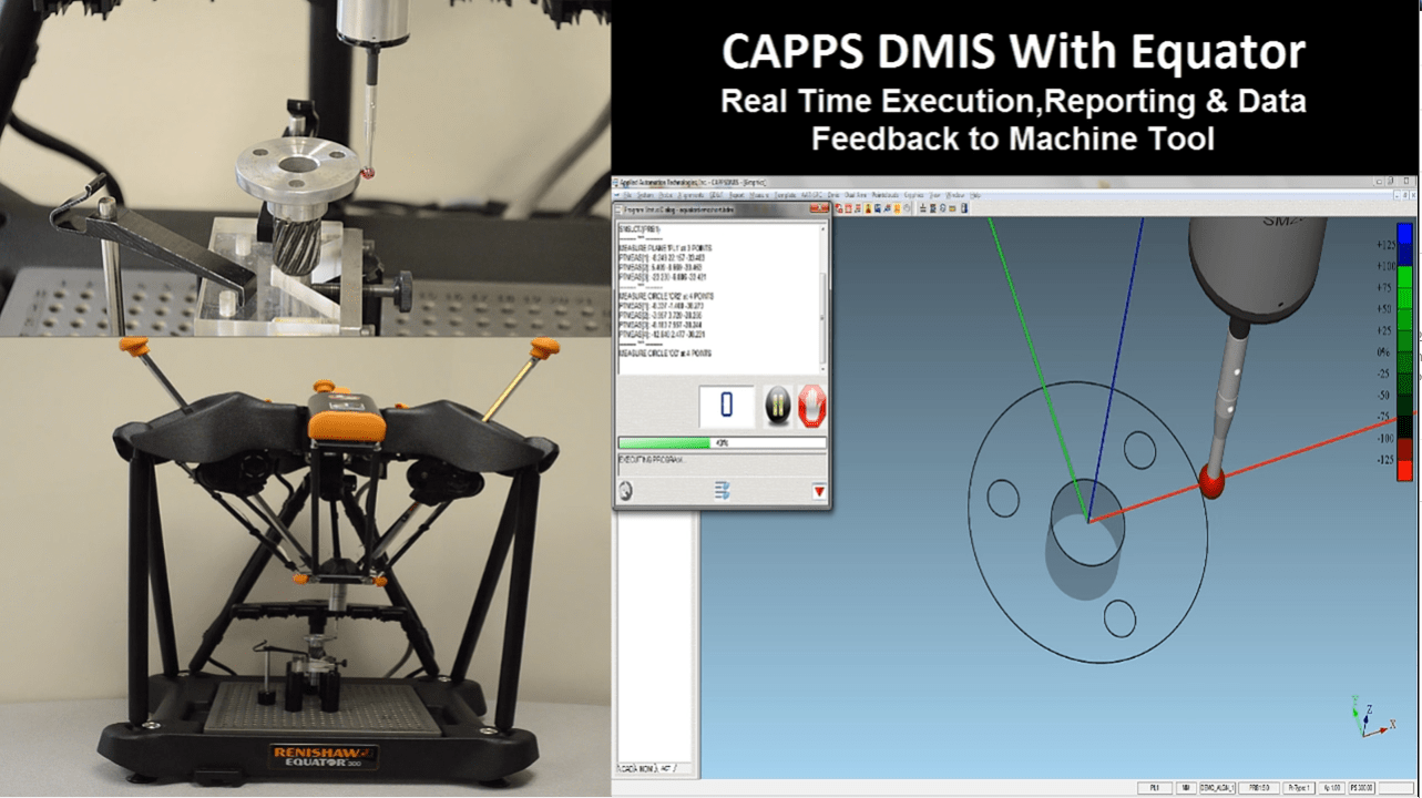 AAT Capps CMM metrology video showing CappsDMIS on an Equator