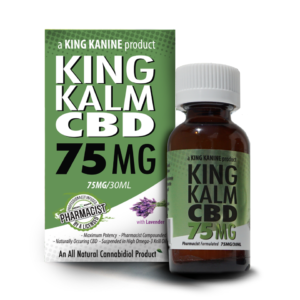 King Kannine's King Kalm Hemp Oil in 75 mg
