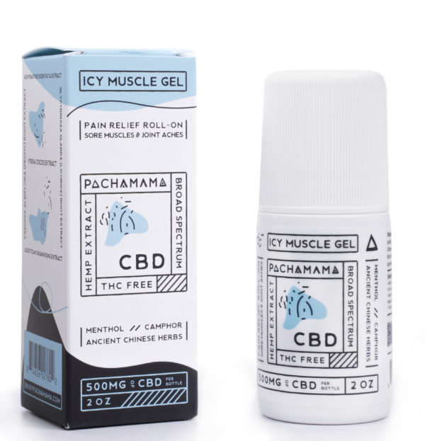 Pachamama broad spectrum cbd icy roll on pain cream