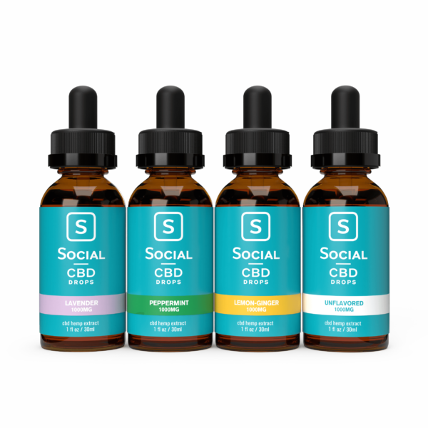 The Social CBD Flavored Drops